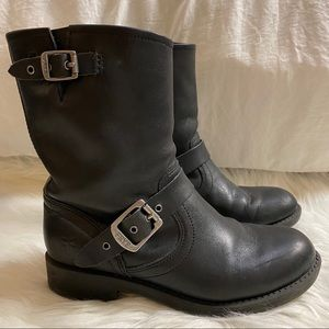 FRYE black leather shortie boots